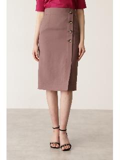 ◆サイドボタンステッチスカート