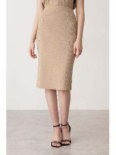 ◆サイドRIBニットスカート