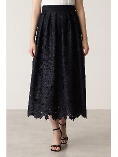 レース刺繍フレアスカート