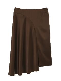 トリアセサテン変則フレアースカート