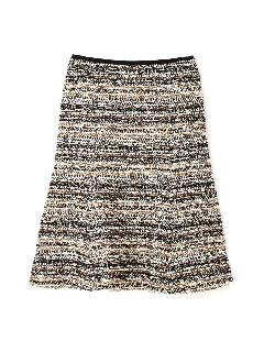 カラーツイードセミフレアースカート