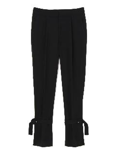 モデレートジョーゼット裾ベルト付きパンツ