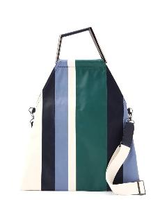 ピクニックストライプレザーバッグ