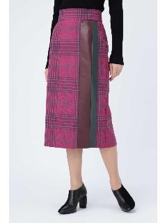 カラーチェックIラインスカート