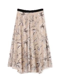 フラワープリントフレアースカート