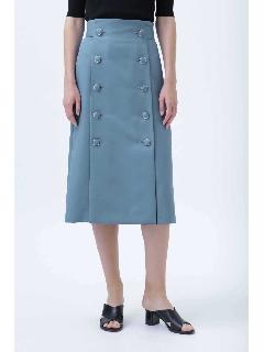 カラーツイルバックベルトスカート