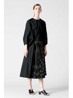 ◆コットンシルクストライプスカート
