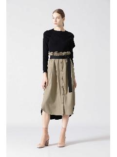 ◆スパンツイルバイカラースカート
