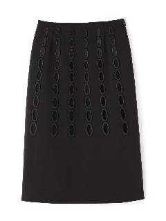 オーバルエンブロイダリースカート