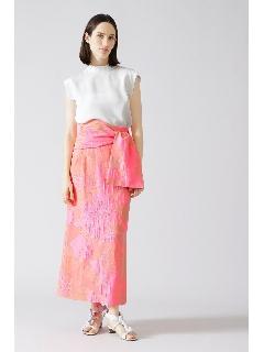 <BLACK LABEL>ネオンジャガードマキシタイトスカート
