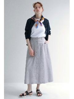 ◆ドビーリネンストレッチスカート