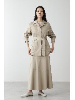 ◆≪arrive 5e≫綿麻スラブサテンスカート