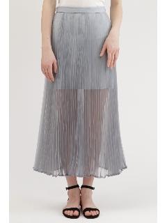 シャンブレーオーガンジープリーツスカート