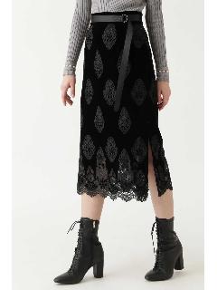 ヴェルベットレースタイトスカート