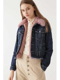 ◆フェイクファーデニムジャケット