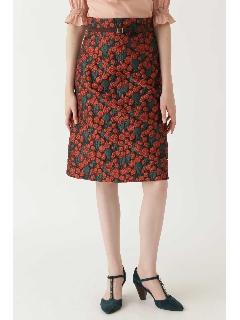 ノーブルジャガード花柄タイトスカート