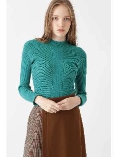 アイラ柄編みプルオーバー