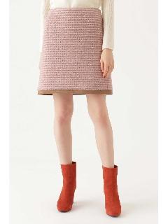 ◆ジオカリツィード台形ミニスカート