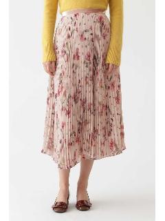 ◆ウォーターカラーフラワープリーツスカート