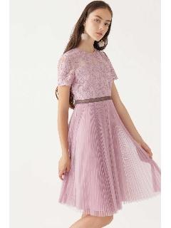 《JILLSTUART White》キャロラインレース×チュールプリーツドレス