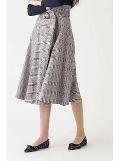 マリオンチェックミモレ丈スカート