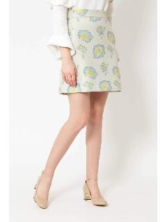 ◆ミーシャジャガードフラワースカート