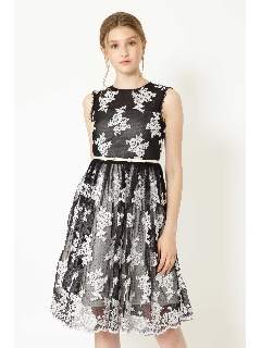 《JILLSTUART White》DOT TULLE LACE ドレス