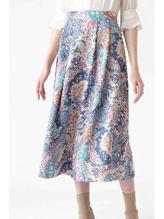 ◆《Endy ROBE》ナタリアペイズリー柄スカート