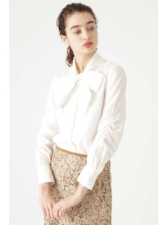 ◆ボウタイリボン付きシャツ