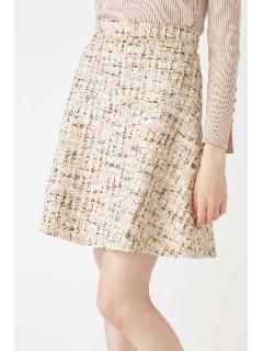 ◆ポピーツイードフレアミニスカート