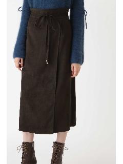 ◆ノアフェイクスエードラップ風スカート