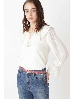 ◆ホリーラッフル刺繍ブラウス