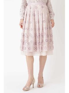 ◆フローラフラワー刺しゅうスカート