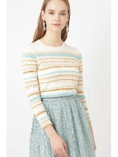 ◆エイミーマルチボーダー編みニット