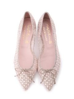 ◆《Pretty Ballerinas×JILLSTUART》レースチュールバレエシューズ