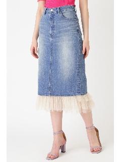 ◆《JILL JEAN》チュールデニムタイトスカート