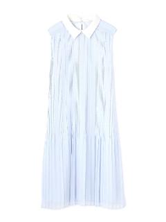 ◆メリープリーツ衿付きワンピース