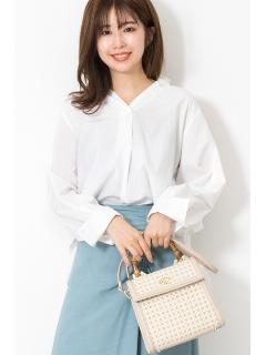 ◆アヌークフリルネックシャツ