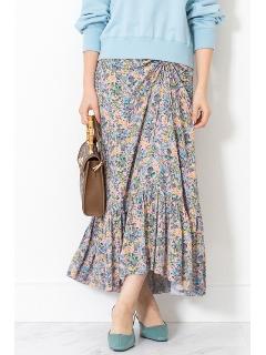 ◆キャンディス小花柄ギャザースカート