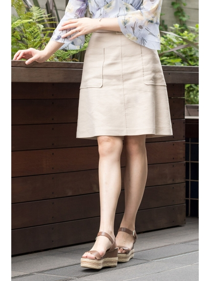 60%OFF JILLSTUART (ジルスチュアート) ◆ドロシー台形スカート BEIGE(040)