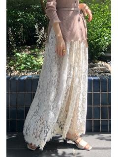 ◆サリーリネンレーススカート