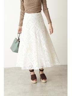 ◆レースブロッキングスカート