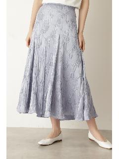 フラワーシュリンクサテンスカート