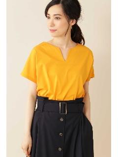 [Weekend Line]◆大きいサイズ・洗える◆キーネックTシャツ