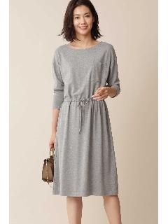 ◆大きいサイズ・洗える◆ポケット付ジャージードレス[Weekend Line]