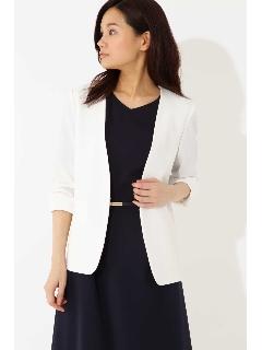 ◆大きいサイズ◆麻調ジャージージャケット