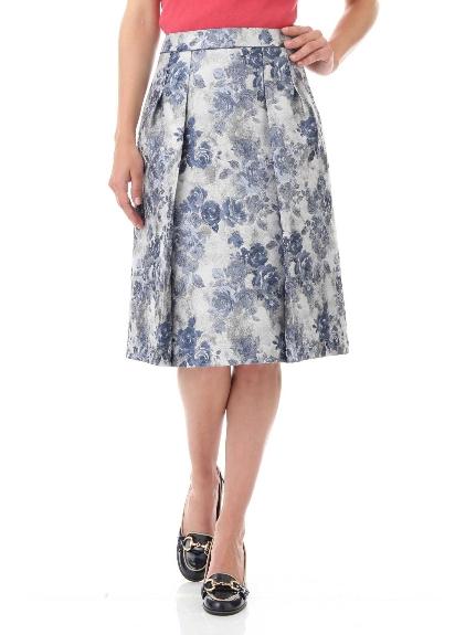 30%OFF Aylesbury (アリスバーリー) ◆フラワージャガードタックスカート ブルー(110)