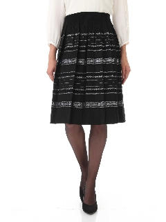 ◆フラワーボーダーリバーシブルスカート