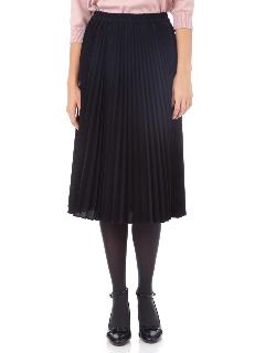 ◆サテンスエードアコーディオンプリーツスカート