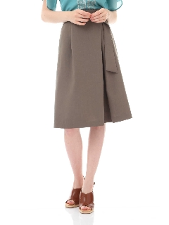 リネンライクラップ風スカート